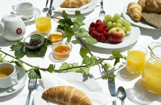 Tavolo della colazione all'Hotel Bergblick