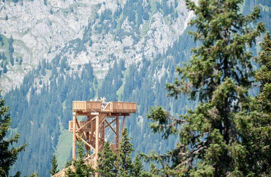 Torre di avvistamento nella foresta